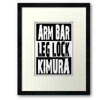 Jiu Jitsu - Arm Bar, Leg Lock, Kimura Framed Print