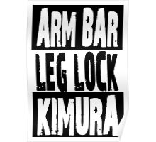 Jiu Jitsu - Arm Bar, Leg Lock, Kimura Poster