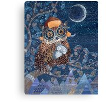 Owl mother Canvas Print