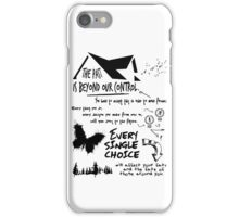 THE PAST IS BEYOND OUR CONTROL - UNTIL DAWN iPhone Case/Skin