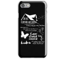 THE PAST IS BEYOND OUR CONTROL iPhone Case/Skin