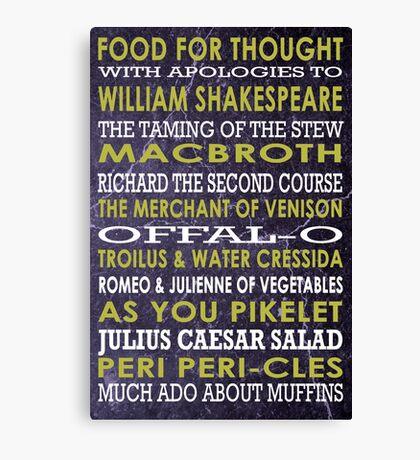 Apologies to Shakespeare Canvas Print