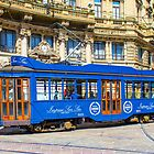 Vintage tram in Milano, ITALY by Bruno Beach