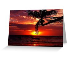 Sairee Sunset Greeting Card