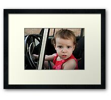 Annabelle Sure Loves to Drive - series [4] Framed Print