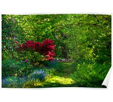 Peaceful Path in the Garden Poster