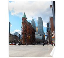 The FlatIron Building of Toronto Poster