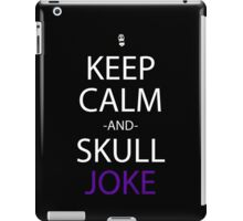 one piece keep calm and skull joke anime manga shirt iPad Case/Skin