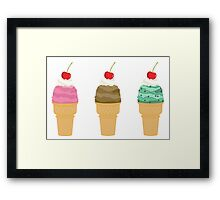 Ice Cream Collection  Framed Print