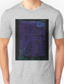 USGS Topo Map California Beaver Mountain 288283 1990 24000 Inverted T-Shirt