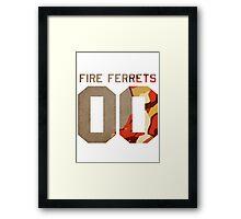 Fire Ferrets Mako Framed Print