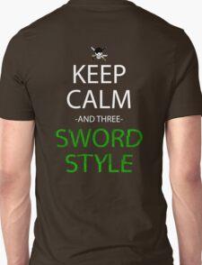 one piece keep calm and three sword style anime manga shirt T-Shirt