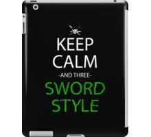 one piece keep calm and three sword style anime manga shirt iPad Case/Skin