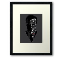 I Will Skin You Framed Print