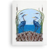 Herons Renewal Canvas Print