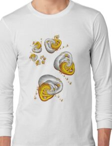 Journey to the Center - Gold and Silver Long Sleeve T-Shirt