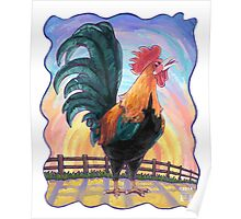 Animal Parade Rooster Poster