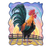 Animal Parade Rooster Photographic Print