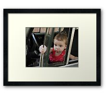 Annabelle Sure Loves to Drive - series [3] Framed Print