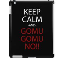 one piece keep calm and gomu gomu no anime manga shirt iPad Case/Skin