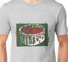 Snug As a Cat in a Basket (Screen Print Art) Unisex T-Shirt