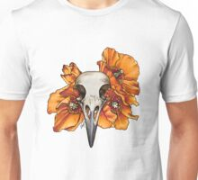 Crow with Welsh Poppies (colour) Unisex T-Shirt