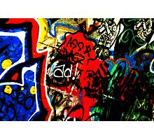 Graphic Graffiti Photographic Print