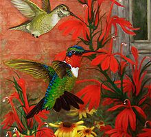 Hummingbird Summer I - Ruby Throated Hummers by AISI