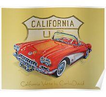 California Vette Poster