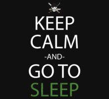 one piece keep calm and go to sleep anime manga shirt by ToDum2Lov3