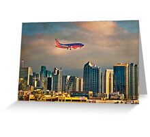 Flying Past Downtown Greeting Card