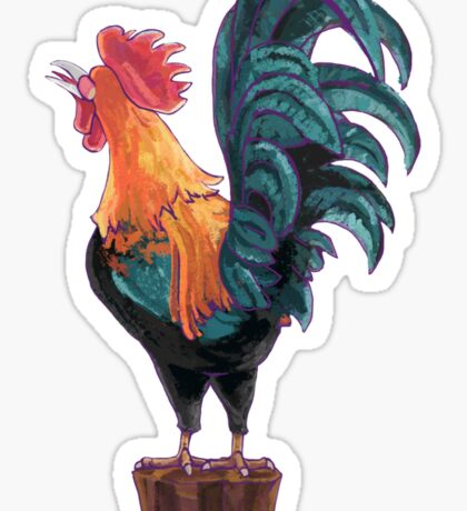 Rooster Silhouette Butt Sticker