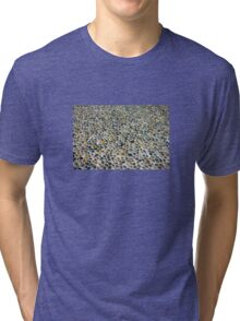 Pebbles ground pavement texture in Milano, ITALY Tri-blend T-Shirt