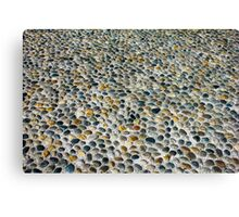 Pebbles ground pavement texture in Milano, ITALY Canvas Print