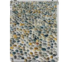 Pebbles ground pavement texture in Milano, ITALY iPad Case/Skin