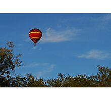 Red Balloon over the oak trees Photographic Print