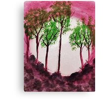 Sunrise Thru the Trees,watercolor  Canvas Print