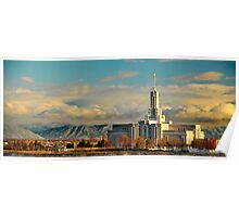 Mount Timpanogos Temple - Panorama Poster
