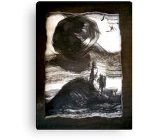 when an earth moves..... Canvas Print