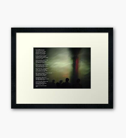 futuREunion - a song for kindred Framed Print