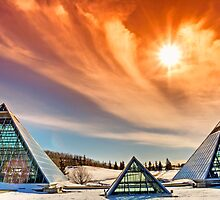 Muttart Pyramids by JCBimages