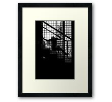 Caged Silhouette Framed Print
