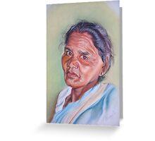 portrait of bahomoni hembrom Greeting Card