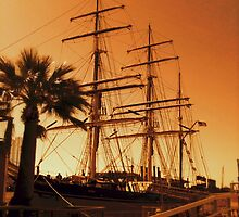 She's an old iron barque by DaynaCW