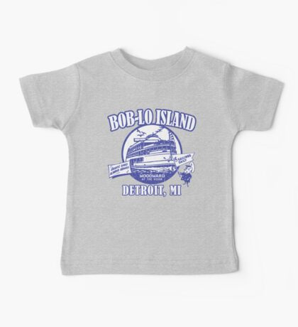 Boblo Island, Detroit MI (vintage distressed look) Baby Tee