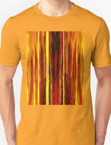 Yellow Light Abstract Forest Unisex T-Shirt