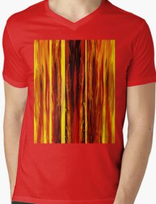 Yellow Light Abstract Forest Mens V-Neck T-Shirt