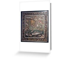 Marine Scene with Fish mosaic  Greeting Card
