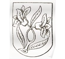 Anders Thiset Hearldry Skam Herreds våben 1648 Poster