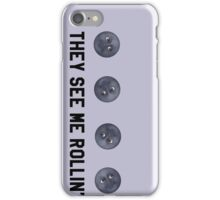 They See Me Rollin' Black Moon Emoji Trendy/Hipster/Tumblr Meme iPhone Case/Skin